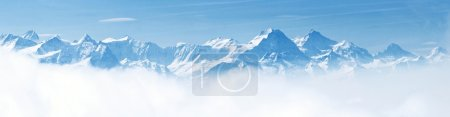 雪山全景景观阿尔卑斯山